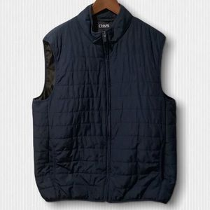 Chaps Navy and Black Puffer Vest Large